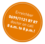 Button_dr_on_call_orange
